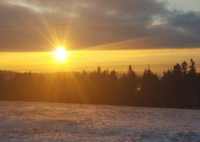 Wschód słońca w Orawce